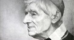 This undated photo provided by the Catholic Trust for England and Wales shows a portrait of Cardinal John Henry Newman. Mazur/www.catholicnews.org.uk via AP