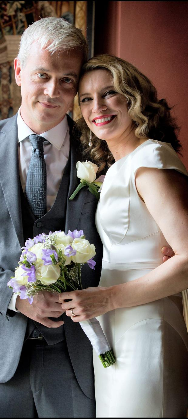 'Rock solid': Restaurateur Ronan Ryan and former TV presenter Pamela Flood married in 2014. Photo: David Conachy
