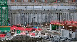 Work at the National Children's Hospital site in Dublin. Picture: PA