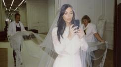 Kim Kardashian in the run-up to her 2013 wedding. Picture: Kim Kardashian/Instagram