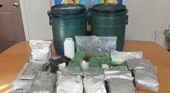 The cocaine was discovered during a search of a house Photo: Garda Press Office