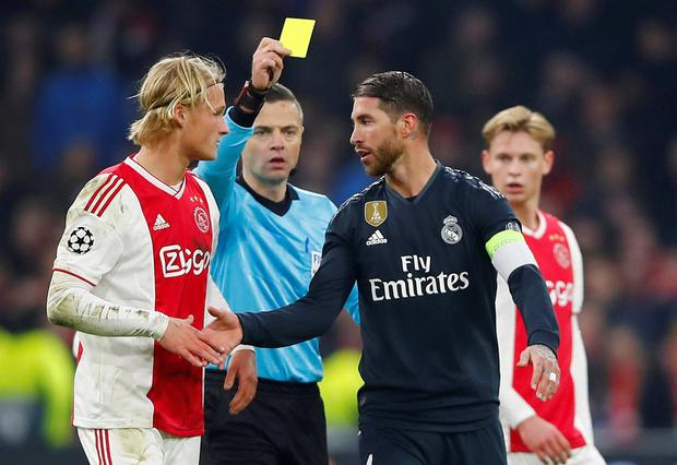 Sergio Ramos: Real Madrid captain charged with getting booked deliberately against Ajax