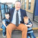 Club president Noel Healy with his grandchildren. Credit: Dermot Lynch Photography