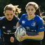 Katie Whelan and Alison Kelly at the Leinster Rugby School of Excellence. Photo: Sportsfile