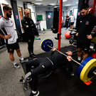 Robbie Benson with team-mates, from left, Stephen Folan, John Mountney and Patrick Hoban during the opening day of Dundalk pre season training at Oriel Park in Dundalk