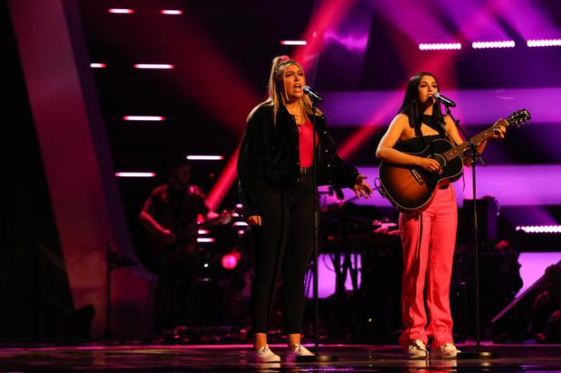Georgia and Missy perform as GGMK on The Voice UK episode 7, Saturday February 16