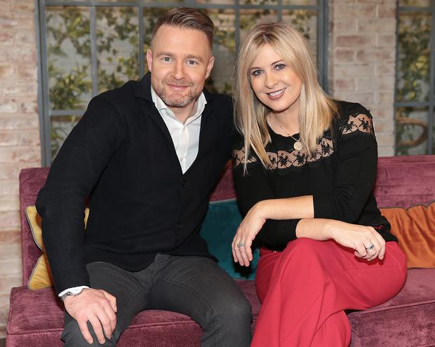 Virgin Media Television Weekend AM Aidan Power and Laura Woods Pic Brian McEvoy