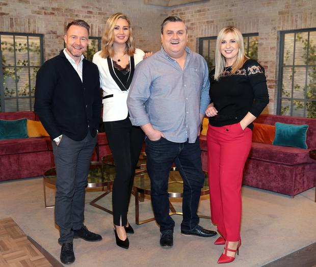 Virgin Media Television Weekend AM Aidan Power,Anna Daly,Simon Delaney and Laura Woods Pic Brian McEvoy