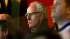 Republic of Ireland manager Mick McCarthy looks on during the SSE Airtricity League Premier Division match between St Patrick's Athletic and Cork City at Richmond Park in Dublin. Photo by Michael Ryan/Sportsfile
