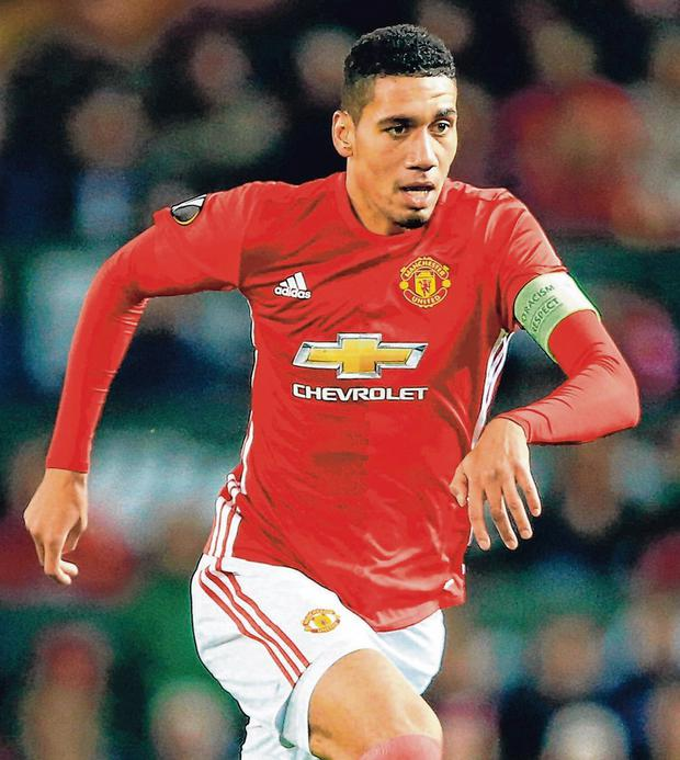 Chris Smalling has set some challenges for the Manchester United chef by his conversion to veganism. Photo: Nigel French/PA Wire