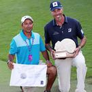 Matt Kuchar with Ortiz