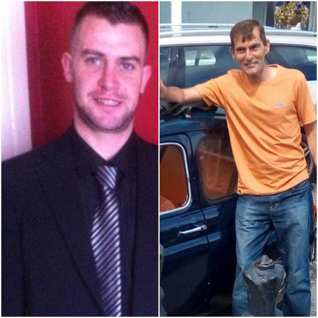 Noel Leeson (L) and Anthony Keegan (R) were last seen on February 3