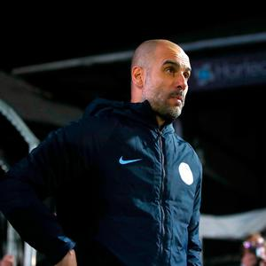 Manchester City manager Pep Guardiola heads out of the tunnel for the second half of the FA Cup fifth round match at Rodney Parade, Newport. Saturday February 16, 2019. Nick Potts/PA Wire.