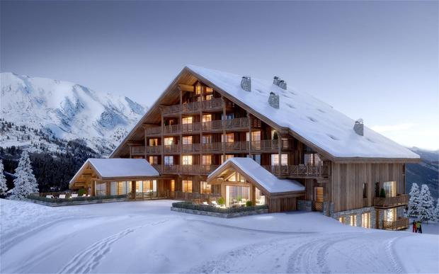 Meribel — Antares 1707 offers 100-373sqm ski-in apartments. A former hotel before being converted to 70 units, facilities include a swimming pool, spa, concierge, restaurant and bar; athenaadvisers.com.