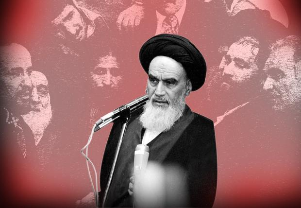 REPRESSION: Ayatollah Khomeini addresses an audience in the airport building in Tehran in February 1979 following his arrival from 14 years of exile