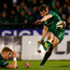 Jack Carty of Connacht kicks a conversion supported by Darragh Leader. Photo: Harry Murphy/Sportsfile