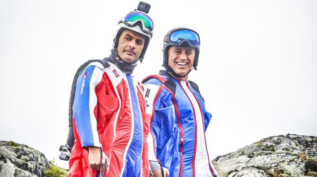 Matt LeBlanc and Chris Harris wear wingsuits in trailer for new Top Gear series (BBC/PA)