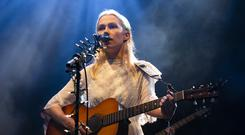 BRECON, WALES - AUGUST 18: Phoebe Bridgers performs on the Walled Garden stage during day 2 at Greenman Festival on August 18, 2018 in Brecon, Wales. (Photo by Andrew Benge/Redferns)
