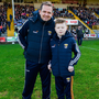 Wexford manager Davy Fitzgerald with special guest Michael O'Brien from Killarney, Co Kerry, who met Davy on the Late Late Toy Show last Christmas