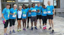 The Sanctuary Runners before their run in Killarney. Photo: Clare Keogh