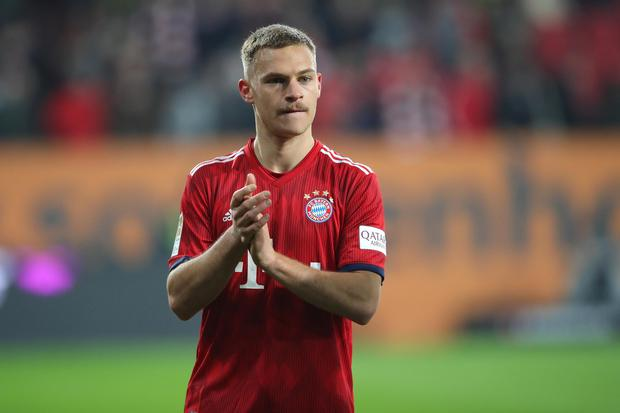 The Champions League duel that Kimmich and his Bayern team-mates confront at Anfield tomorrow night is one brimful of emotion. Photo by Alexander Hassenstein/Bongarts/Getty Images