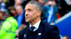 "Hughton: ""We hope that some of this momentum can take us through what has been a difficult time for us in the league."" Photo: Gareth Fuller/PA Wire"