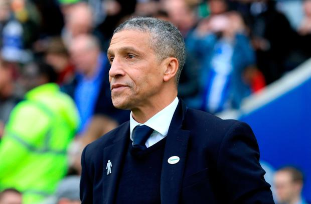 """Hughton: """"We hope that some of this momentum can take us through what has been a difficult time for us in the league."""" Photo: Gareth Fuller/PA Wire"""