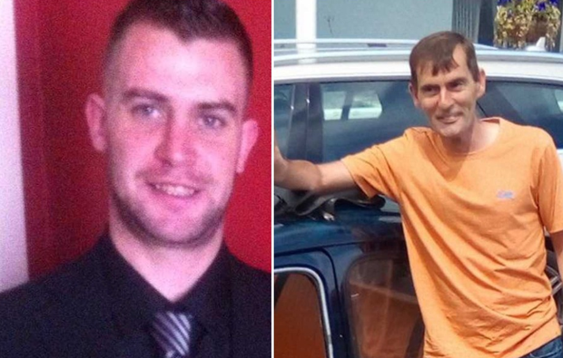 Missing: Noel Leeson (left) and Anthony Keegan (right) have not been heard of for a fortnight since they went to Birmingham
