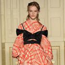 Underwear starring as outerwear: One of Simone Rocha's creations on the catwalk during London Fashion Week