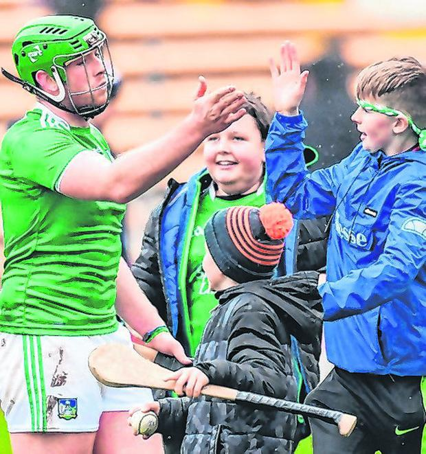 Shane Dowling celebrates with supporters. Photo: Piaras Ó Mídheach/Sportsfile