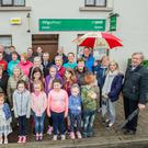 Upset: Residents of Gurteen, Co Sligo, show their support for keeping their post office open. Photo: James Connolly