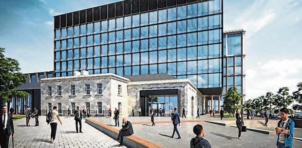An artist's impression of the finished Horgan's Quay project
