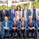 Back-row: Mick O'Keeffe (Teneo), Stephen Cooney (Loyola Group), Colm Duggan (Arthur Cox), Stephen Felle (Davy and Chairman, Sean Cox Trust), Martina Cox (wife of Sean), Jack Cox (son of Sean), Emmet Kavanagh (Irish LFC Reds), Stephen Daly (LFC Daytrippers), Darragh Maloney (RTE Sport). Front-row: Sinead Spain (Communicorp), Brendan Quinn (VHI), Jason McAteer (LFC and Ireland Legend), Pat Cooney (Davy), Ian Rush (Liverpool FC), David Gantly (Sean Cox Trust), Fergus McNulty (Brown Brothers Harriman)