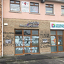A GP's clinic in Longford was defaced overnight