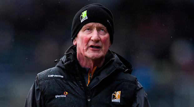 Kilkenny manager Brian Cody reacts to a wide for this side late in the second half during the Allianz Hurling League Division 1A Round 3 match between Kilkenny and Limerick at Nowlan Park in Kilkenny. Photo by Piaras Ó Mídheach/Sportsfile