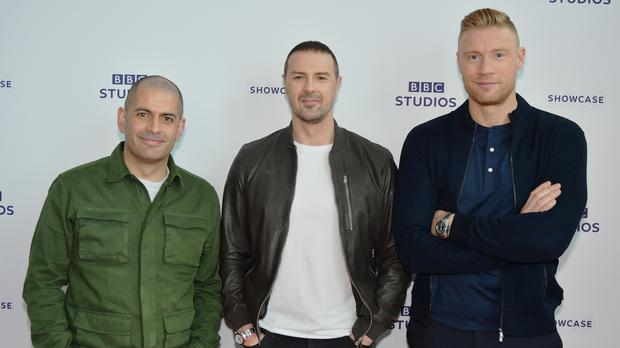 Top Gear presenters from left, Chris Harris, Paddy McGuinness and Freddie Flintoff (Rob Cable/BBC)