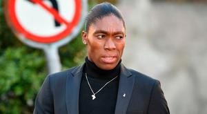 South African 800m Olympic champion Caster Semenya arrives for a landmark hearing at the Court of Arbitration (CAS) in Lausanne. Photo: Getty