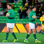 Two of a kind: Johnny Sexton and Joey Carbery are competing for the No 10 jersey in Joe Schmidt's side. Photo: Sportsfile