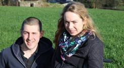 Alan Ward and Emma Hennessy are hopeful of their future in organic farming