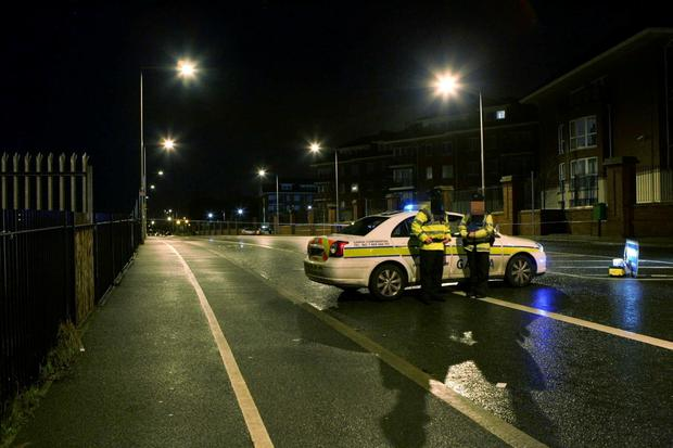 Gardai at the scene of the stabbing in Donaghmede