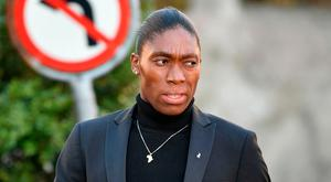 South African 800 meters Olympic champion Caster Semenya arrives for a landmark hearing at the Court of Arbitration (CAS) in Lausanne (Photo by Harold CUNNINGHAM / AFP)