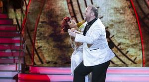 Fred Cooke and Giulia Dotta dancing during show Seven of Dancing With The Stars .kobpix