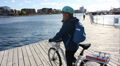 RTE presenter Blathnaid Treacy visits Denmark's capital city of Copenhagen to look at its cycling infrastructure. Photo: RTE