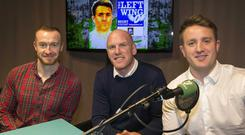 Paul O'Connell (centre) was the special guest on this week's episode of The Left Wing with Luke Fitzgerald (right) and Will Slattery (left)