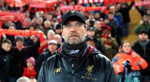 Liverpool manager Jurgen Klopp watches on during a frustrating draw at Anfield. Photo: Peter Byrne/PA Wire