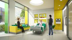 Costly: The new children's hospital will feature single rooms rather than wards