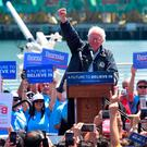 Second attempt: Bernie Sanders speaking at a rally in Los Angeles in May 2016 during his first campaign to be US president. Photo: AFP/Getty Images