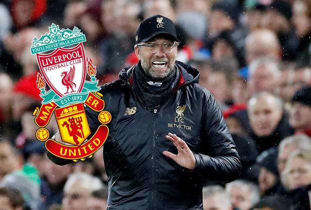 Jurgen Klopp's Liverpool face Manchester United on Sunday