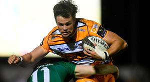 Nico Lee of Toyota Cheetahs in action against Connacht. Photo by Harry Murphy/Sportsfile