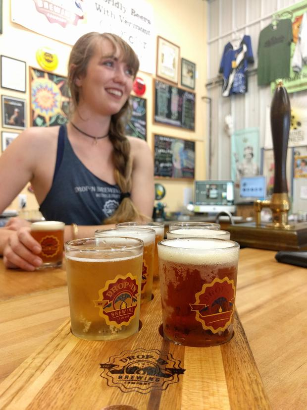 A taste of craft beer at Drop-In Brewery